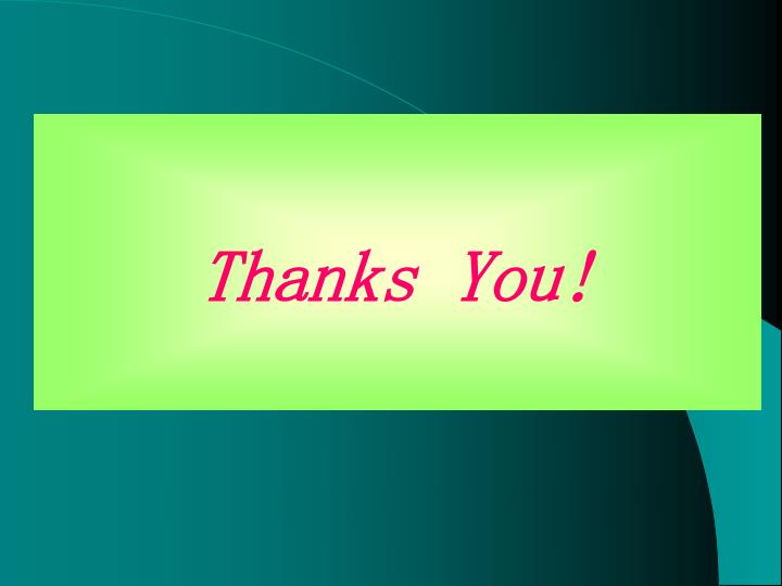 Thanks You!