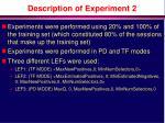 description of experiment 2