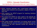 epicn episode classification user identification matching episodes with n gram patterns