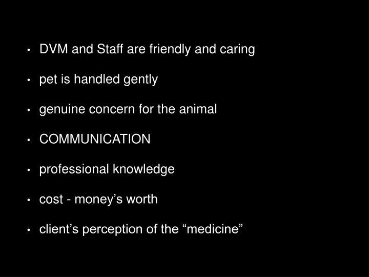 DVM and Staff are friendly and caring