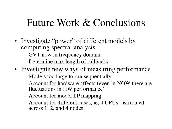 Future Work & Conclusions