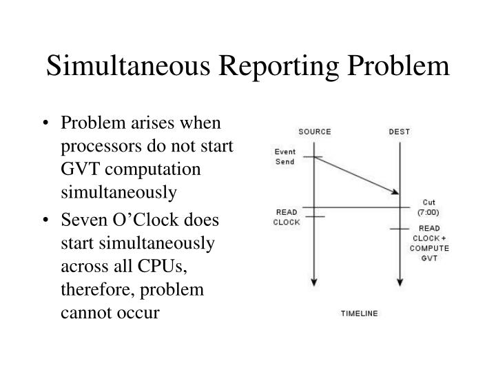 Simultaneous Reporting Problem