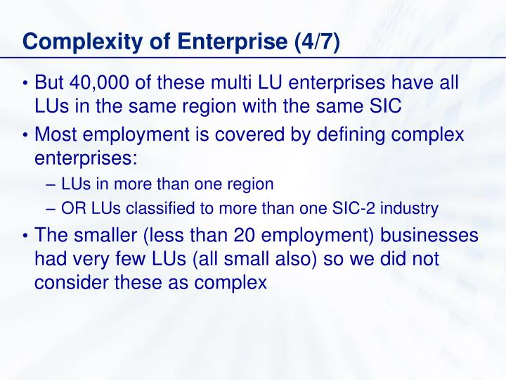 Complexity of Enterprise (4/7)