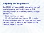 complexity of enterprise 4 7