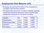 employment size measure 4 6