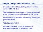 sample design and estimation 3 4