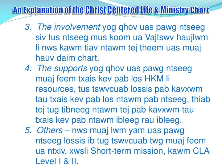 An Explanation of the Christ Centered Life & Ministry Chart