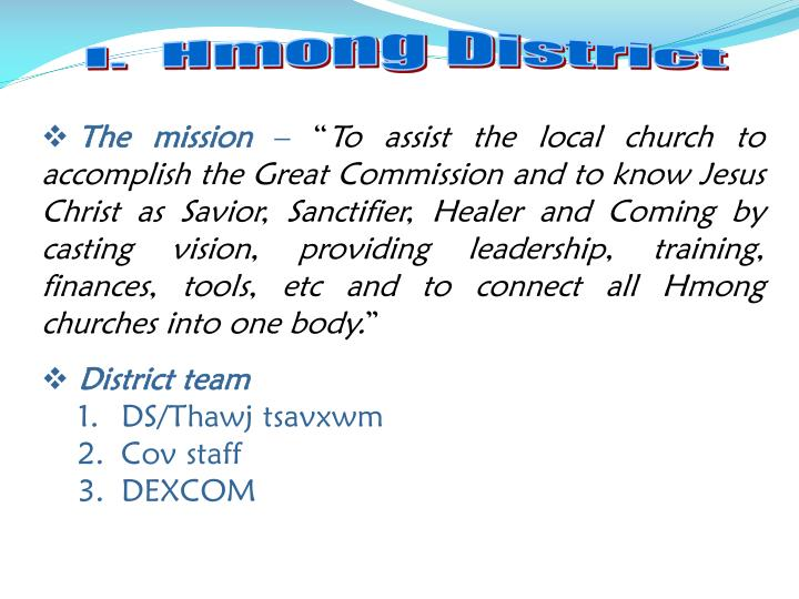 I.  Hmong District
