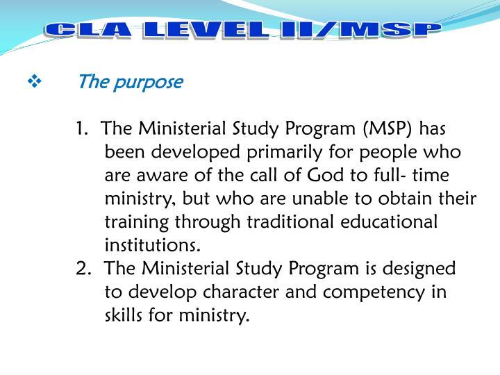 CLA LEVEL II/MSP