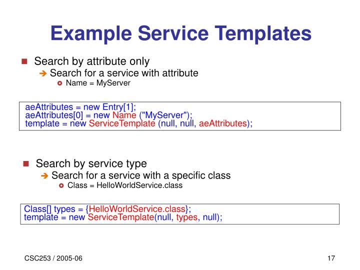 Search by service type