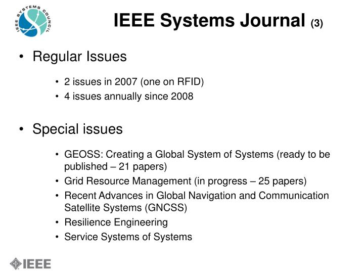 IEEE Systems Journal