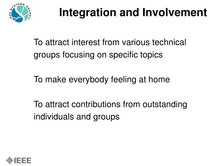 Integration and Involvement