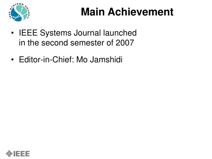 Main Achievement