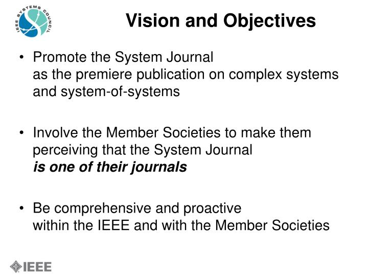 Vision and Objectives