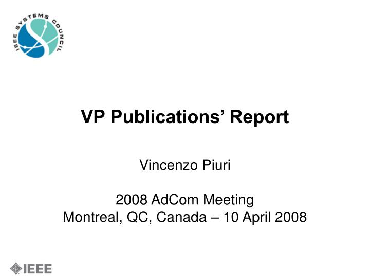 vp publications report