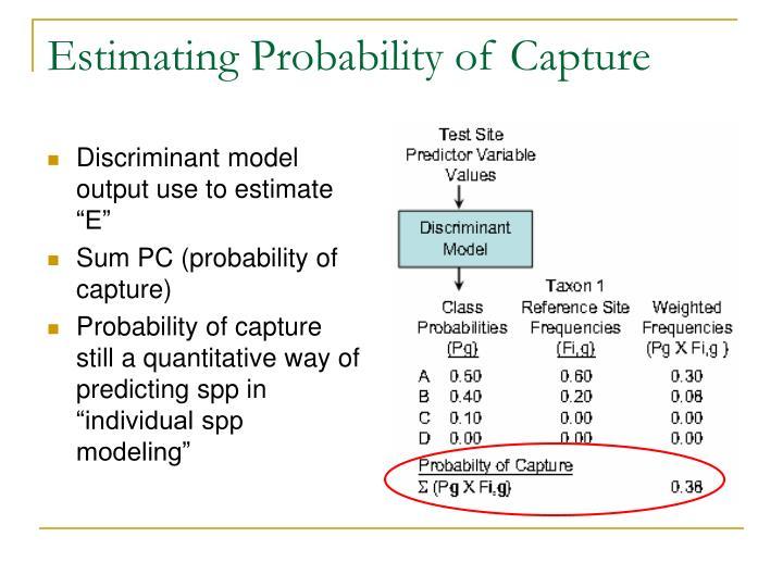 Estimating Probability of Capture