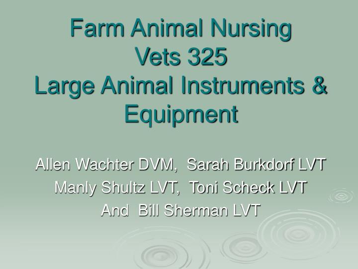 Farm Animal Nursing