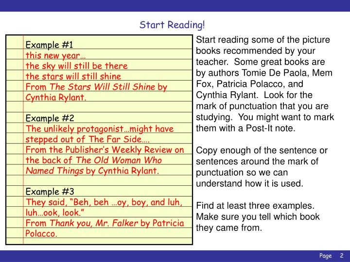 Start Reading!