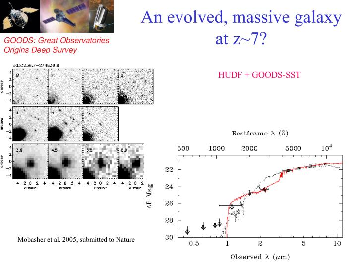 An evolved, massive galaxy at z~7?
