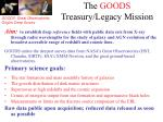 the goods treasury legacy mission