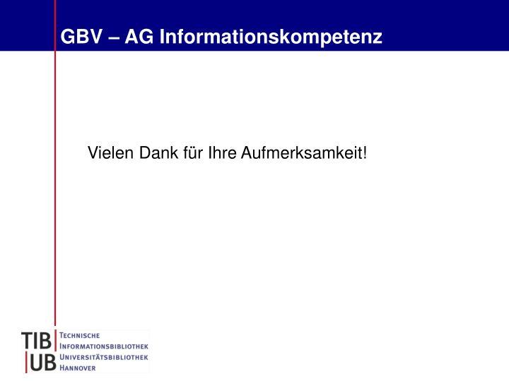 GBV – AG Informationskompetenz