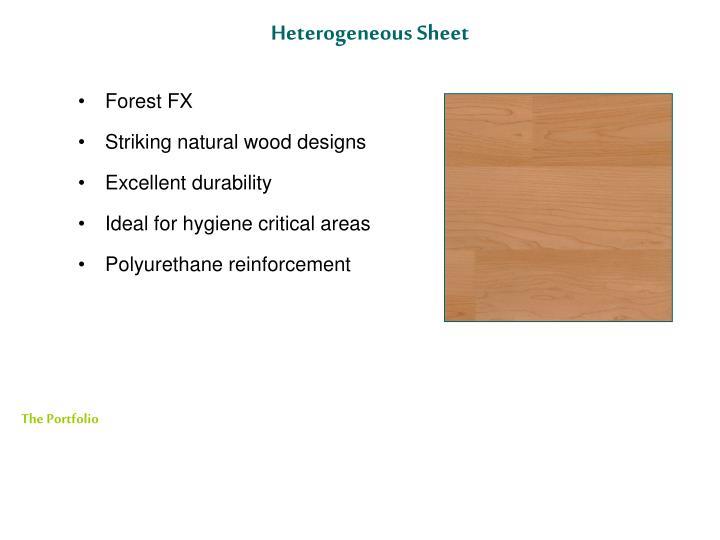 Heterogeneous Sheet
