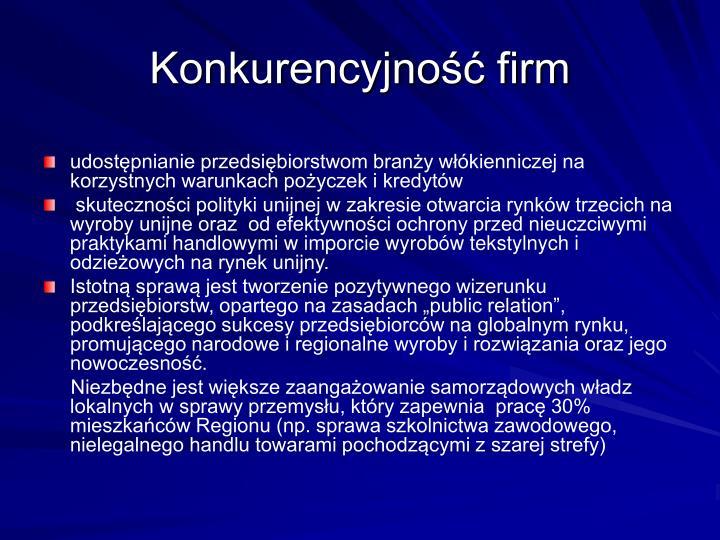 Konkurencyjność firm