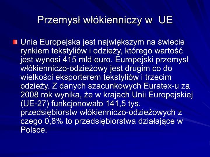 Przemysł włókienniczy w  UE
