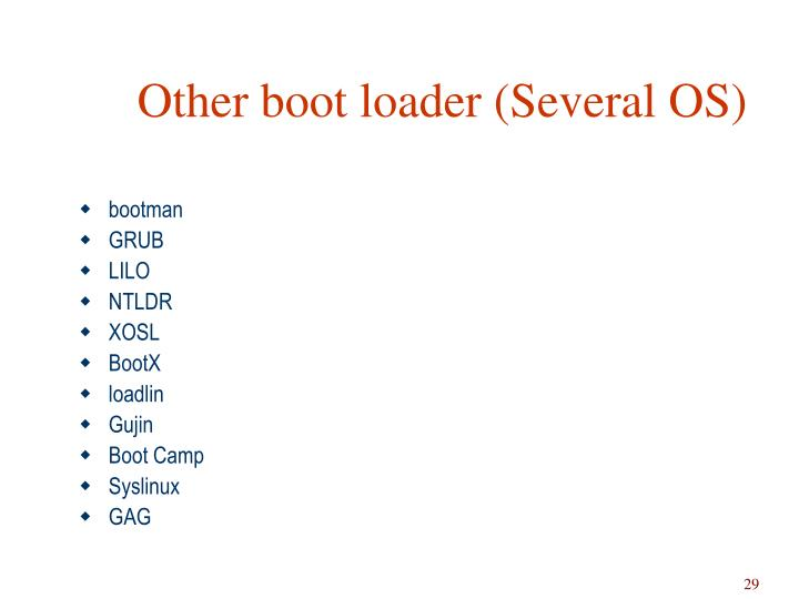 Other boot loader (Several OS)