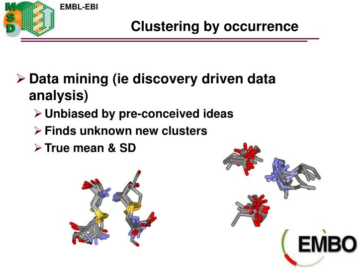 Clustering by occurrence
