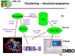 clustering structure sequence