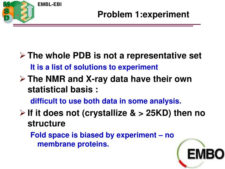 Problem 1:experiment