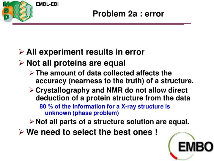 Problem 2a : error
