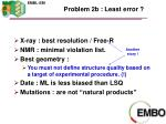 problem 2b least error
