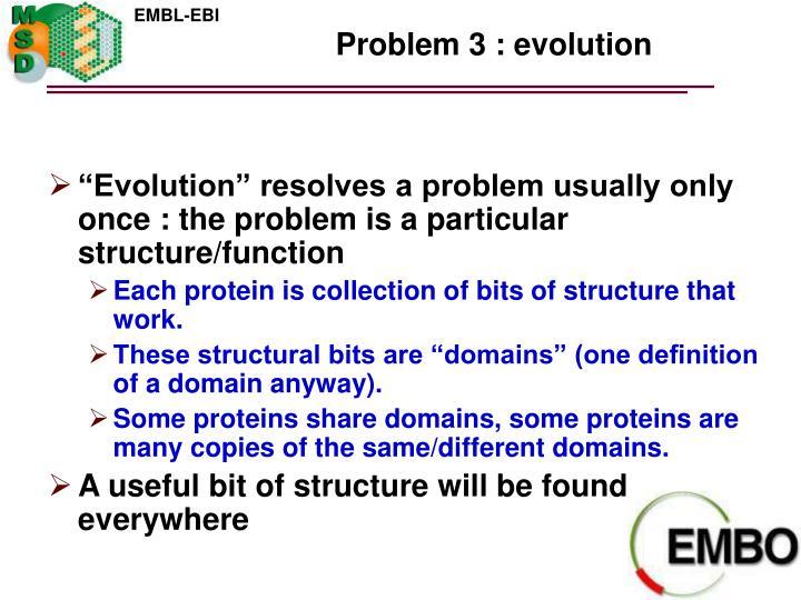 Problem 3 : evolution