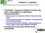 problem 3 evolution