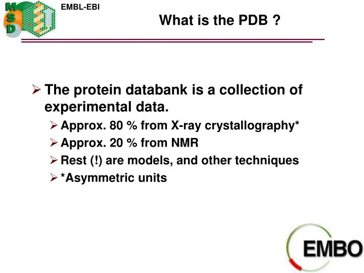 What is the PDB ?
