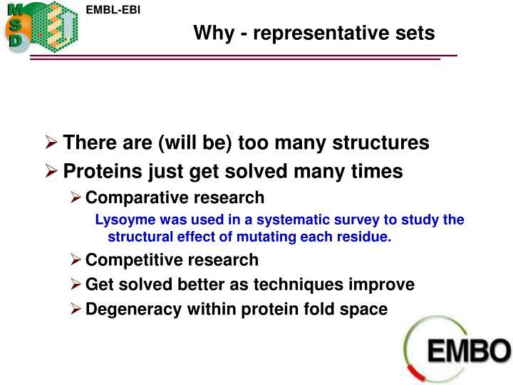 Why - representative sets
