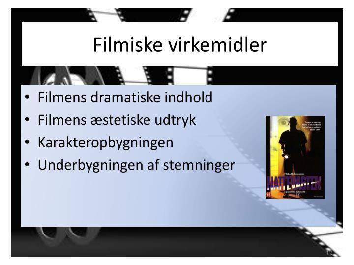 Filmiske virkemidler