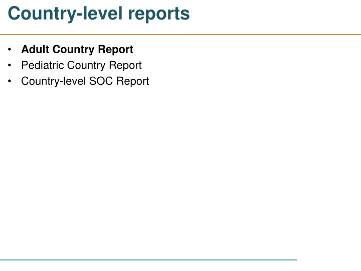 Country-level reports