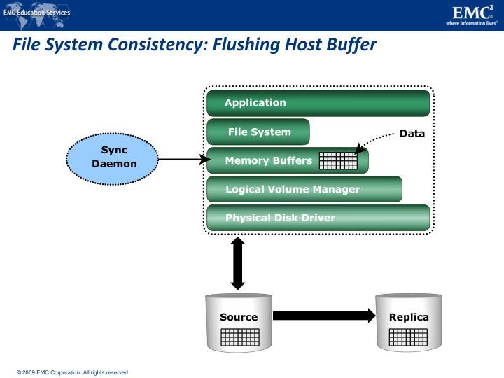 File System Consistency: Flushing Host Buffer
