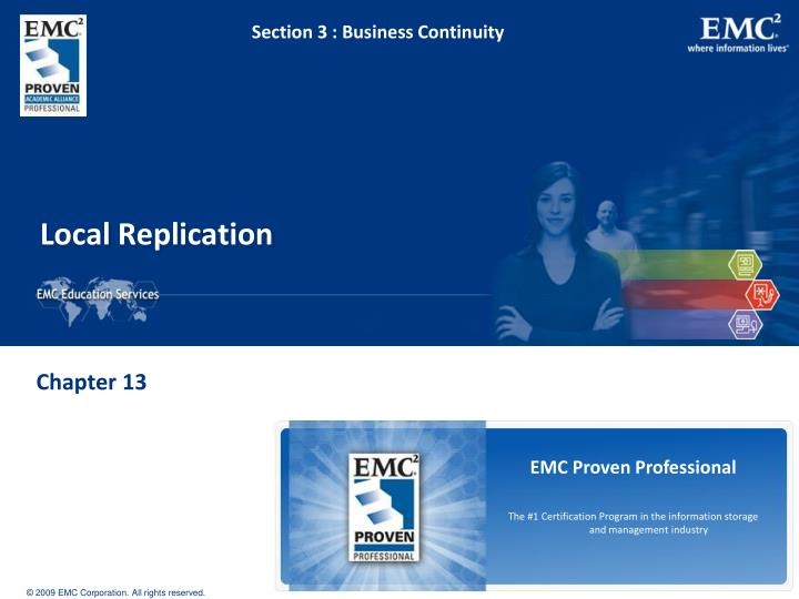 Section 3 : Business Continuity