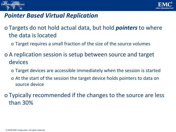 Pointer Based Virtual Replication