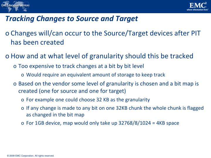Tracking Changes to Source and Target