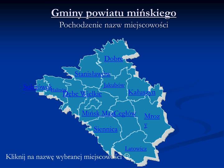 gminy powiatu mi skiego pochodzenie nazw miejscowo ci
