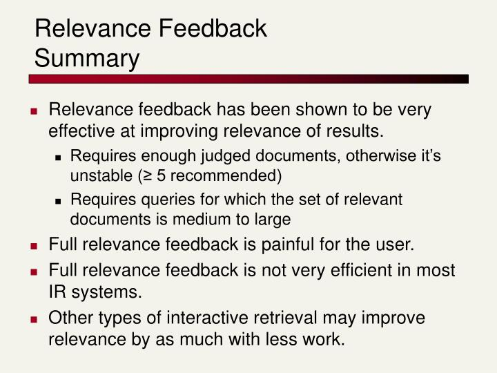 Relevance Feedback