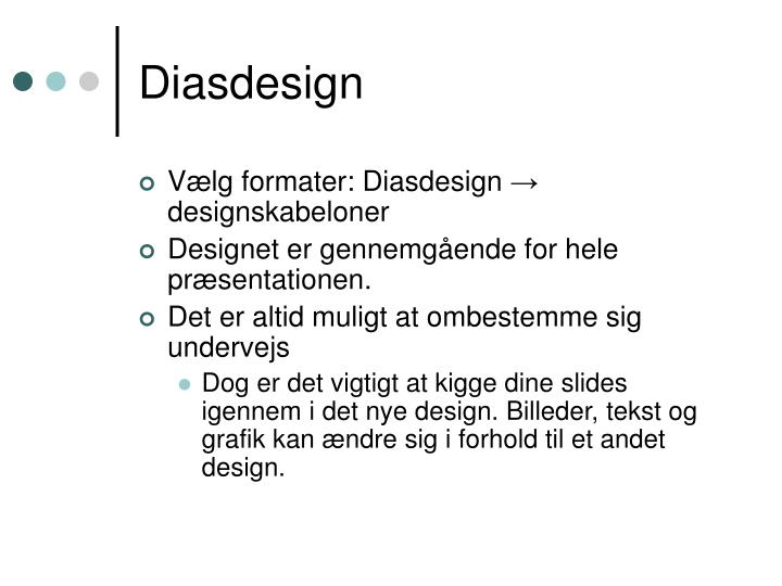 Diasdesign