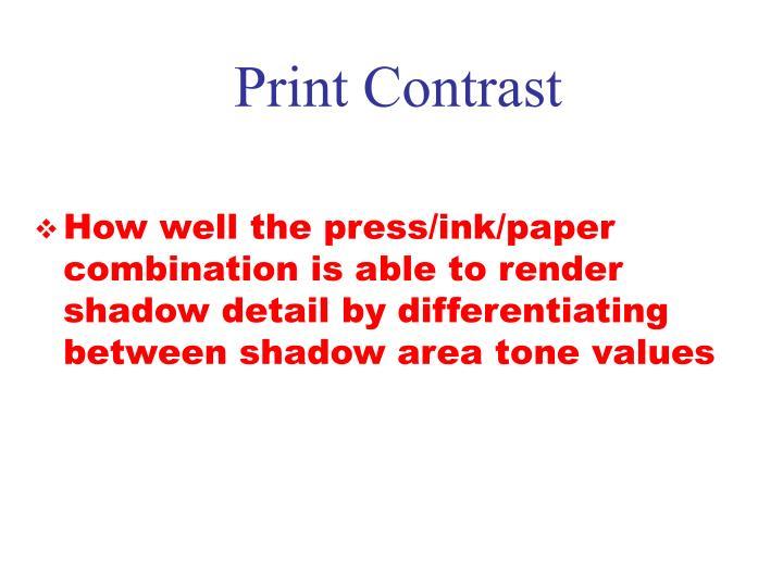 Print Contrast