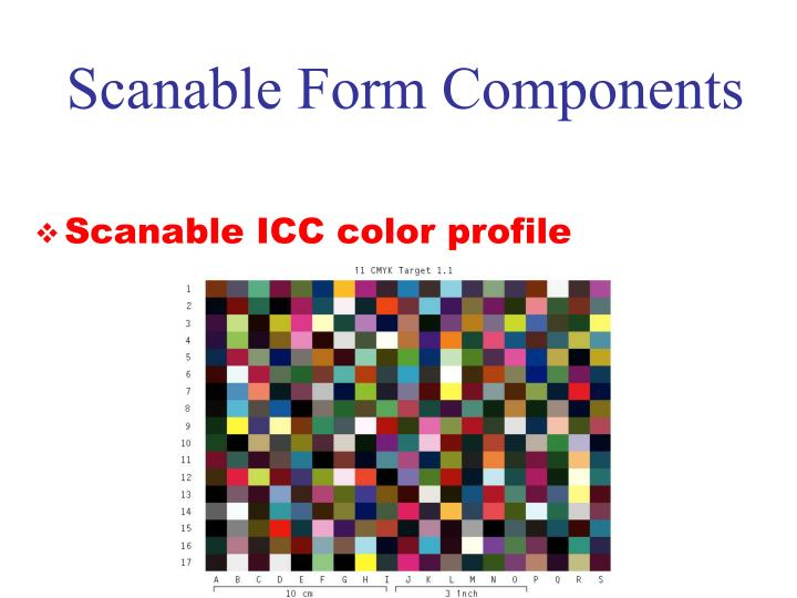 Scanable Form Components