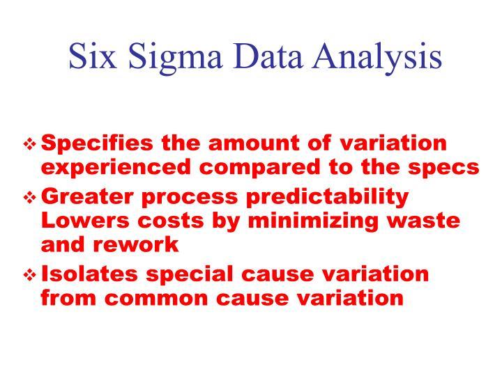 Six Sigma Data Analysis